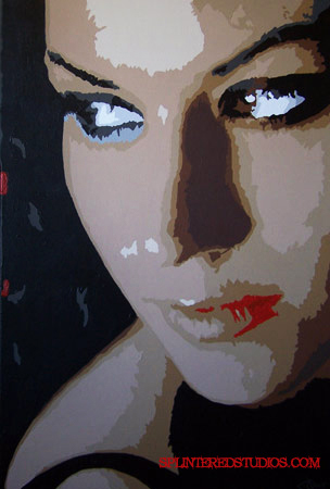 Cristina Scabbia Painting