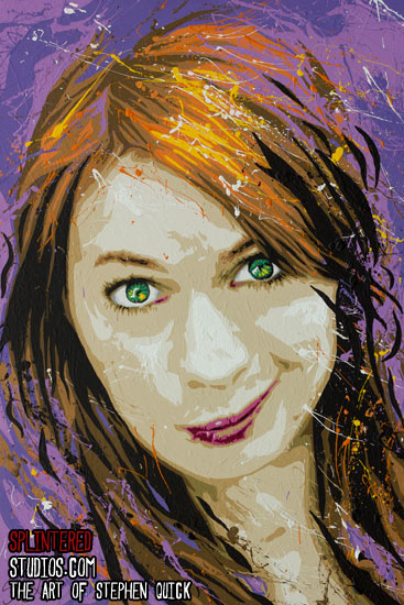 Felicia day painting