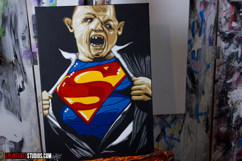 goonies art super sloth painting art by stephen quick