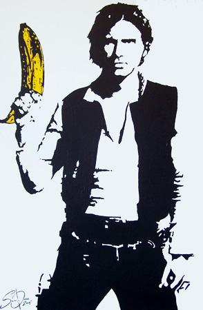 Splintered Studios Han Solo Star Wars Banana Painting The Art Of