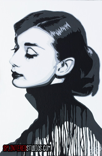 Hepburn Pop Art Drip Paintng - Splintered Studios - The Art of ...