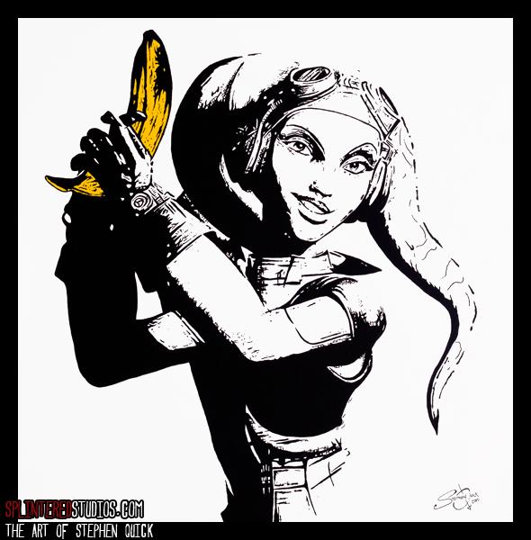 Banana Hera Star Wars Rebels Painting Parody Art By Stephen Quick