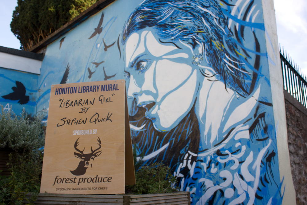 Honiton Mural Sponsored by Forest Produce