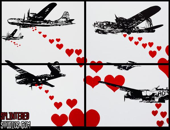 Battle Of L Amour War Satire Pop Art Paintings Splintered