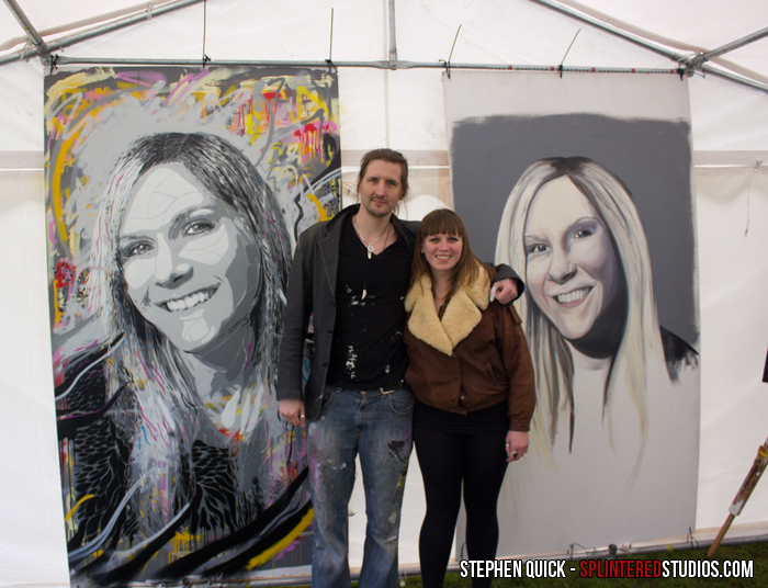 Artists Stephen Quick and Astrid Foreman