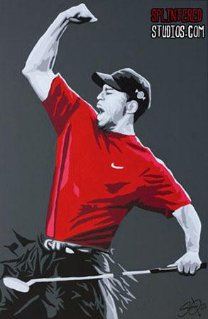 Tiger Woods Pop Art Painting - Splintered Studios - The ...
