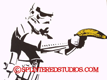Splintered Studios Banana Storm Trooper Painting The Art Of