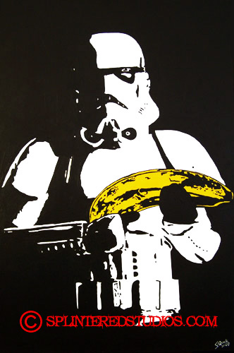Star War Parody Painting Banana Storm Trooper Painting The Art Of