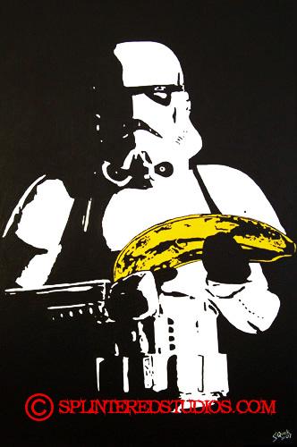 Star War Parody Painting Banana Storm Trooper Painting The Art Of