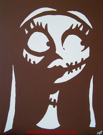 Sally Nightmare Before Christmas Stencil