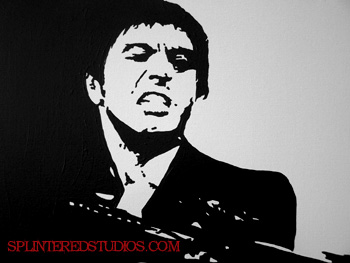 Scarface Pop Art Painting Splintered Studios The Art