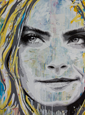 Cara Delevingne Painting